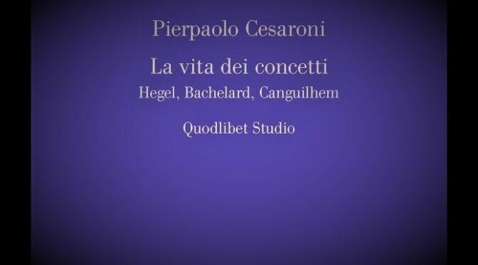 """Incontro di discussione de """"La vita dei concetti"""" (P. Cesaroni)"""